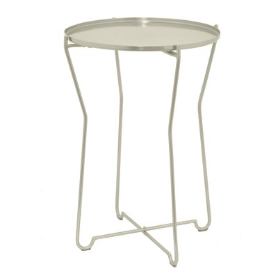 Round Metal End Table Color: Silver