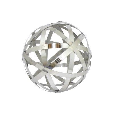 "Metal Orb Sculpture Size: 6"" H x 6"" W x 6"" D 10115"
