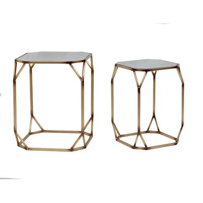 2 Piece Nesting Tables Finish: Antique Gold