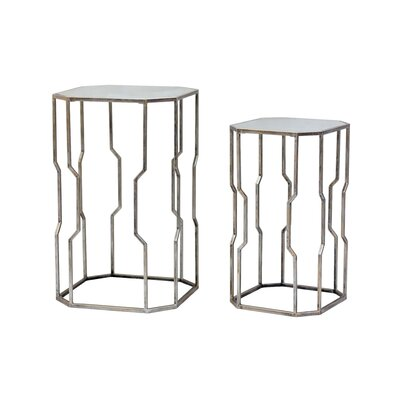 2 Piece Nesting Tables Finish: Champagne