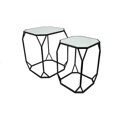2 Piece Nesting Tables Finish: Black