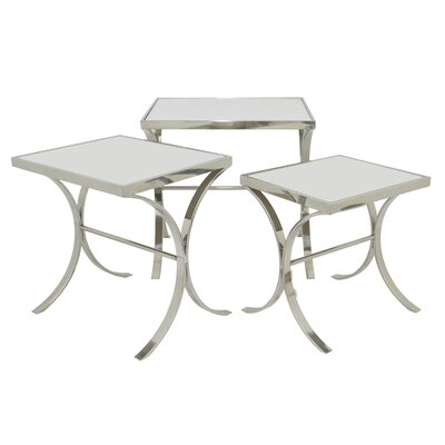 3 Piece Nesting Tables Finish: Silver