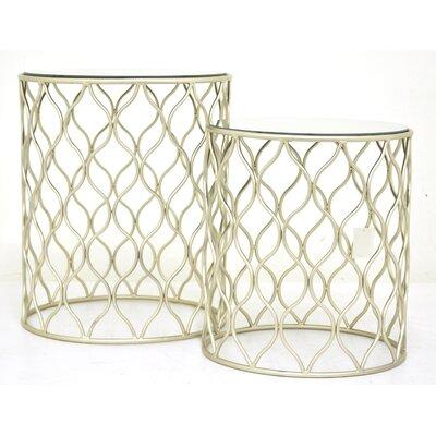 Metal 2 Piece Nesting Tables