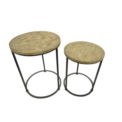 2 Piece Wood Nesting Tables