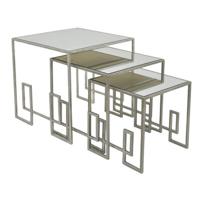 Mirror 3 Piece Nesting Tables