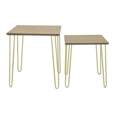 Metal 2 Piece Nesting Tables