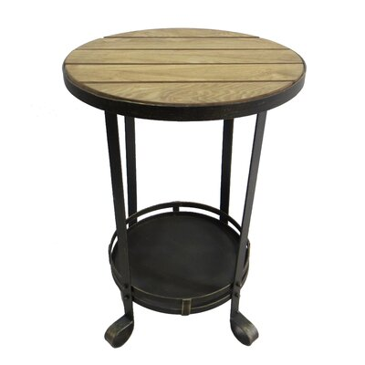 Metal Wood End Table