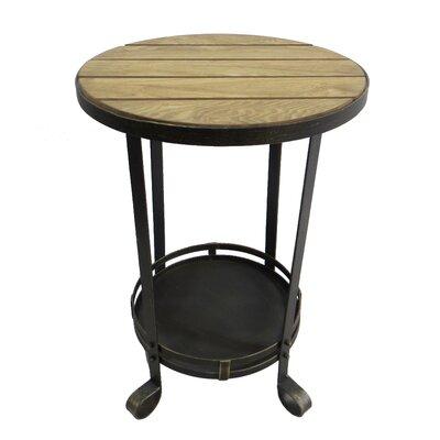 Metal Wood End Table