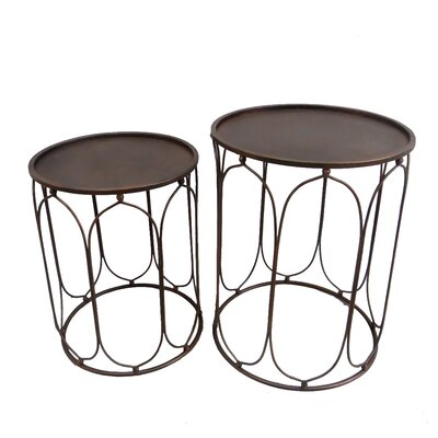 Metal 2 Piece Nesting Tables Finish: Copper