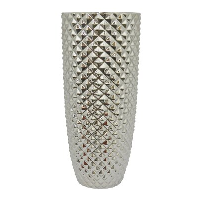 Pompano Beach Ceramic Floor Vase Color: Silver