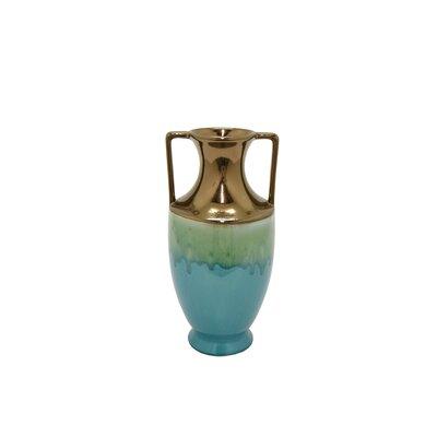 Modern Cylinder Glaze Table Vase Size: 10