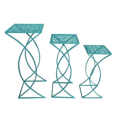 Safford 3 Piece Metal Nesting Plant Stand Set