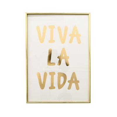Inspirational Rectangle Framed Textual Art on Paper