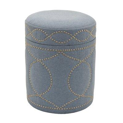 Karren Round Storage Ottoman Upholstery: Gray