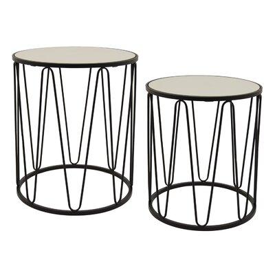 Contemporary 2 Piece Nesting Tables