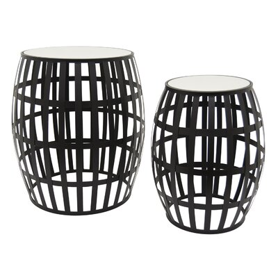 Contemporary Metal 2 Piece Nesting Tables