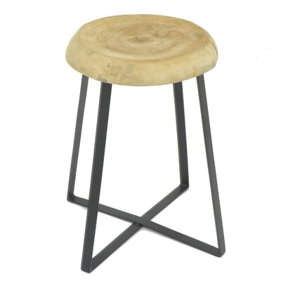 Oval Wood/Metal End Table