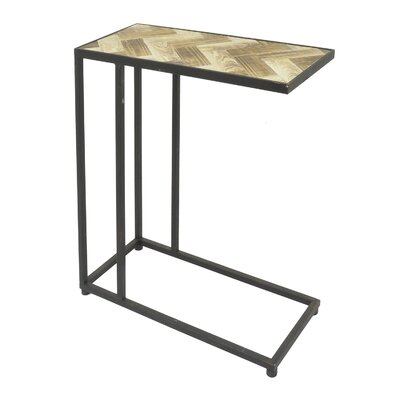 Romey Metal/Wood End Table Size: 23.5 H x 20 W x 9 D