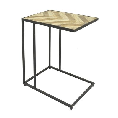 Romey Metal/Wood End Table Size: 24 H x 21 W x 15 D