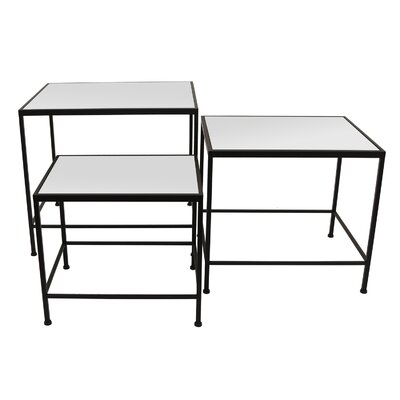 Witherspoon 3 Piece Nesting Tables Table Base Color: Black