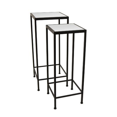 Witherspoon 2 Piece Nesting Tables Table Base Color: Black