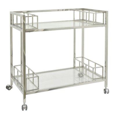 Metal/Glass Bar Cart Color: Silver