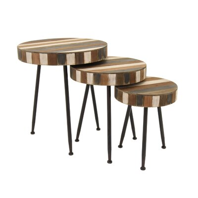 Blissfield Round 3 Piece Nesting Tables