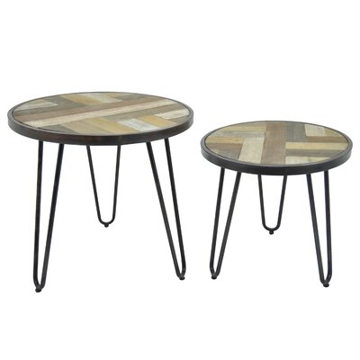 Oval Metal 2 Piece Nesting Tables