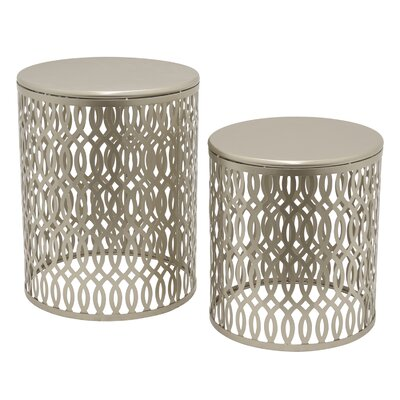 2 Piece Metal Nesting Tables