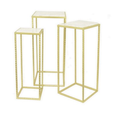 Square Metal 3 Piece Nesting Tables