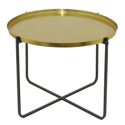 Oval Metal End Table