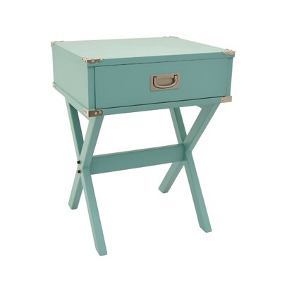 End Table with Storage Color: Green