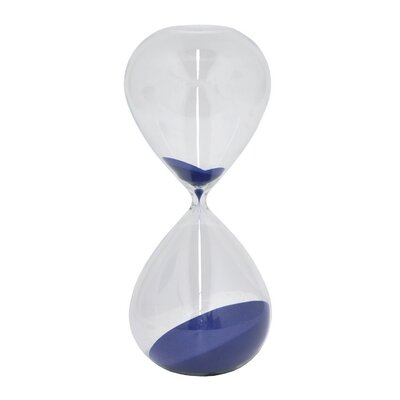 Prudhomme Glass Sand Timer Hourglass Color: Navy Blue