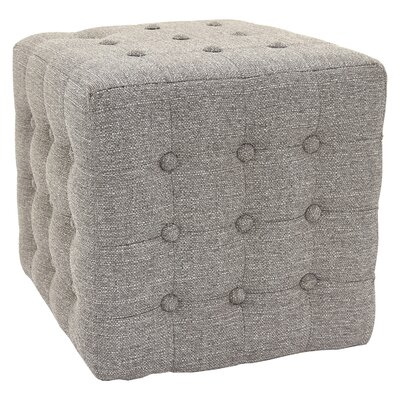 Byrnedale Cube Ottoman Color: Gray