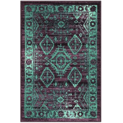 Jenny Teal Area Rug Rug Size: 26 x 310