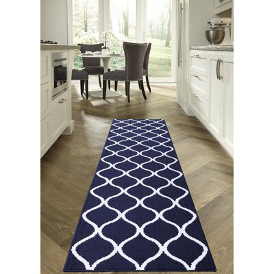 Carissa Blue Area Rug Rug Size: Runner 26 x 10