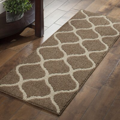 Carissa Brown Area Rug Rug Size: Runner 19 x 5