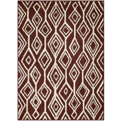 Selena Red Area Rug Rug Size: 5 x 7