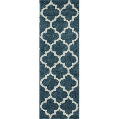 Marnie Blue Area Rug Rug Size: Runner 2 x 6