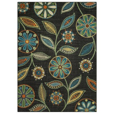 Nova Dark Green/Blue Area Rug Rug Size: 5 x 7