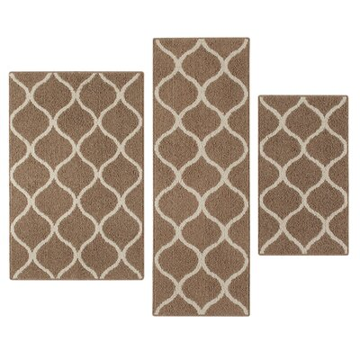 Carissa 3 Piece Cafe Indoor Area Rug Set