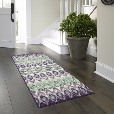 Hersey Purple Area Rug Rug Size: Runner 2 x 6