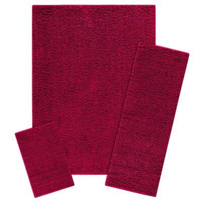 Claire 3 Piece Autumn Red Area Rug Set