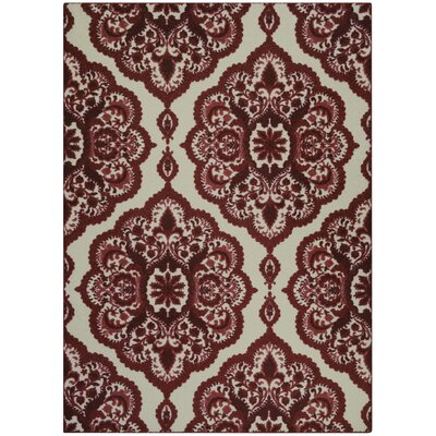 Fiona Red Area Rug Rug Size: 5 x 7