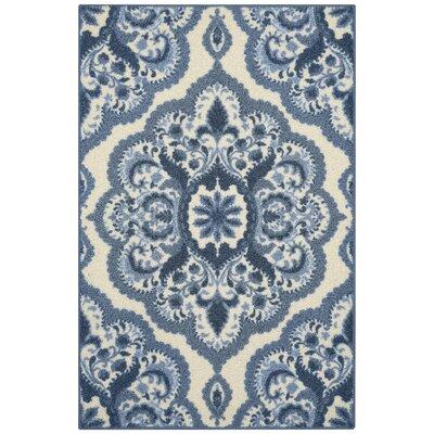 Fiona Blue Area Rug Rug Size: 26 x 310