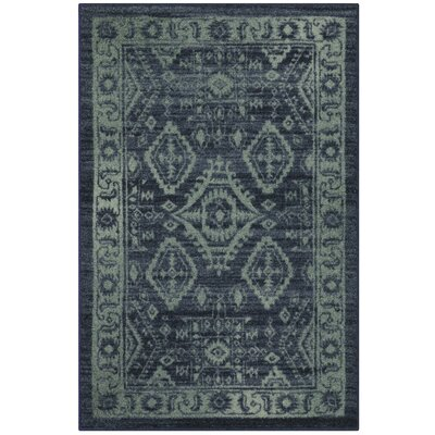 Filip Blue/Green Area Rug Rug Size: 26 x 310