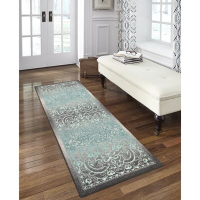 Hudson Gray/Blue Area Rug Rug Size: Runner 2 x 6