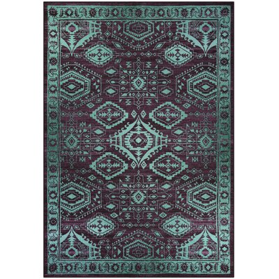 Jenny Teal Area Rug Rug Size: 7 x 10