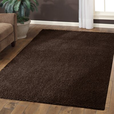 Claire Brown Suede Area Rug Rug Size: 5 x 7