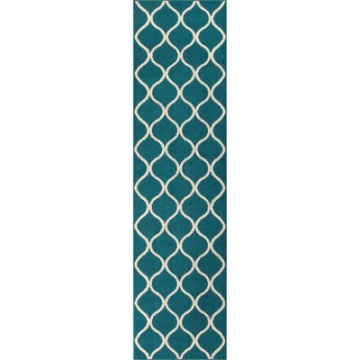 Hershman Teal Indoor Area Rug Rug Size: Runner 19 x 5